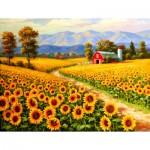 Puzzle   Pièces XXl - Red River Sunflower Farm