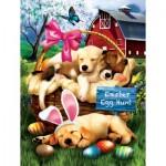 Puzzle   Pièces XXL - Tom Wood - Sleepy Eyed Easter Egg Hunters