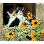 Puzzle   Susan Bourdet - Kittens and Sunflowers