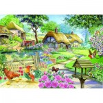 Puzzle  The-House-of-Puzzles-1592 Pièces XXL - Cottage - Country Living