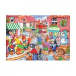 Puzzle  The-House-of-Puzzles-1837 Pièces XXL - In The Town