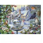 Puzzle  The-House-of-Puzzles-2247 Pièces XXL - Winter Birds