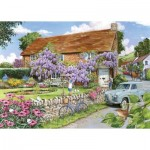 Puzzle  The-House-of-Puzzles-3473 Pièces XXL - Wisteria Cottage