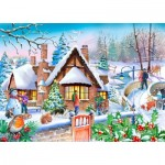 Puzzle  The-House-of-Puzzles-4814 Pièces XXL - Darley Collection - Snowy Cottage