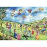 Puzzle   Pièces XXL - Darley Collection - Let's Go Fly a Kite