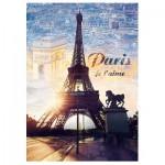 Puzzle  Trefl-10394 Paris, Je t'aime