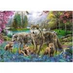 Puzzle  Trefl-10558 Famille de Loups