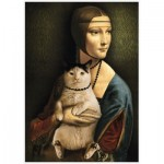 Puzzle  Trefl-10663 Lady with a Cat