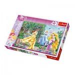 Puzzle  Trefl-13141 Le jardin des princesses Disney