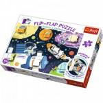 Trefl-14272 Flip Flap Puzzle - Espace