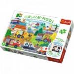 Trefl-14273 Flip Flap Puzzle - Véhicules