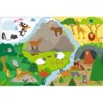 Puzzle  Trefl-14280 Pièces XXL - Animaux