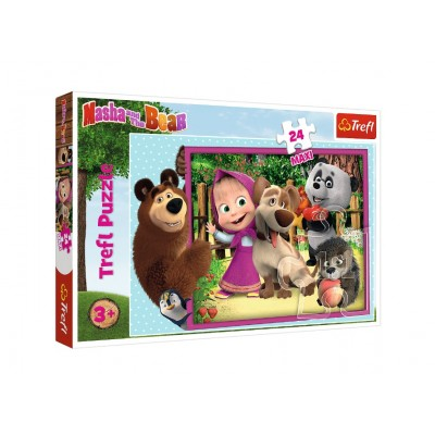 Puzzle Trefl-14301 Pièces XXL - Masha & the Bear