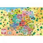 Puzzle  Trefl-15556 Carte de Pologne (en Polonais)