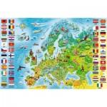 Puzzle  Trefl-15558 Carte d'Europe (en Polonais)