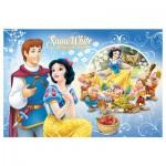 Trefl-16500 2 Puzzles Lumi Color - Disney Princesses : Blanche Neige et Ariel