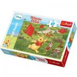 Puzzle  Trefl-17204 Winnie l'Ourson - Le cerf volant, c'est amusant!