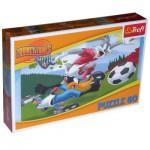 Puzzle  Trefl-17222 Bug Bunny, Daffy Duck - Le match!