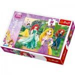 Puzzle  Trefl-18172 Les princesses Disney - élégance