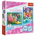 2 Puzzles + Memo - Disney Princess