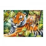 Puzzle  Trefl-26159 Deux Tigres