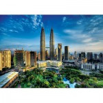 Puzzle  Trefl-27075 Malaisie, Kuala Lumpur : Twin Towers
