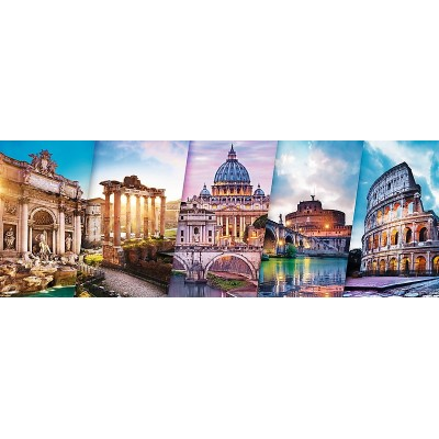 Puzzle Trefl-29505 Collage - Rome