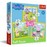 3 Puzzles : Peppa's happy day / Peppa Pig