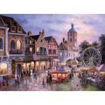 Puzzle  Trefl-33033 Dennis Lewan : Fête Foraine