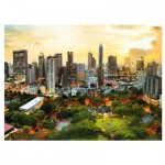 Puzzle  Trefl-33060 Coucher de Soleil à Bangkok