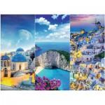 Puzzle  Trefl-33073 Vacances en Grèce