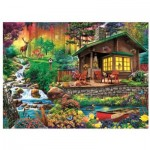 Puzzle  Trefl-33074 Cottage dans les Bois