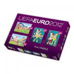 Trefl-34089 4 Puzzles en 1 : UEFA EURO 2012