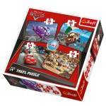 Trefl-34107 4 Puzzles en 1 : Cars et ses amis