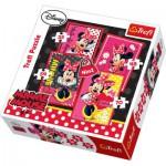 Trefl-34119 4 Puzzles en 1 : Minnie toute mimi