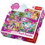Trefl-34153 4 Puzzles en 1 : My Little Pony