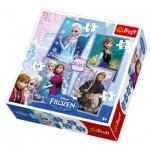 Trefl-34210 4 Puzzles - La Reine des Neiges