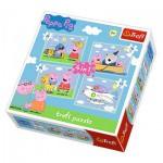 Trefl-34246 4 Puzzles - Peppa Pig