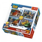 Trefl-34270 4 Puzzles - Bob le Bricoleur