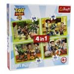 Trefl-34312 4 Puzzles - Toy Story 4