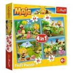 Trefl-34320 4 Puzzles - Maya l'Abeille