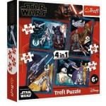 Trefl-34326 4 Puzzles - Star Wars