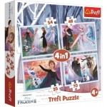 Trefl-34344 4 Puzzles - La Reine des Neiges 2