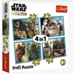 Puzzle  Trefl-34377 4 in 1 - The Mandalorian and his World