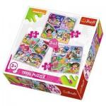 Trefl-34828 3 Puzzles - Dora