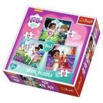 Trefl-34835 3 Puzzles - Nella