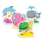 Trefl-36055 Puzzle Baby Classic : Animaux Marins