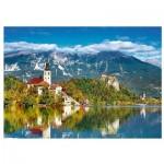 Puzzle  Trefl-37259 Bled, Slovénie