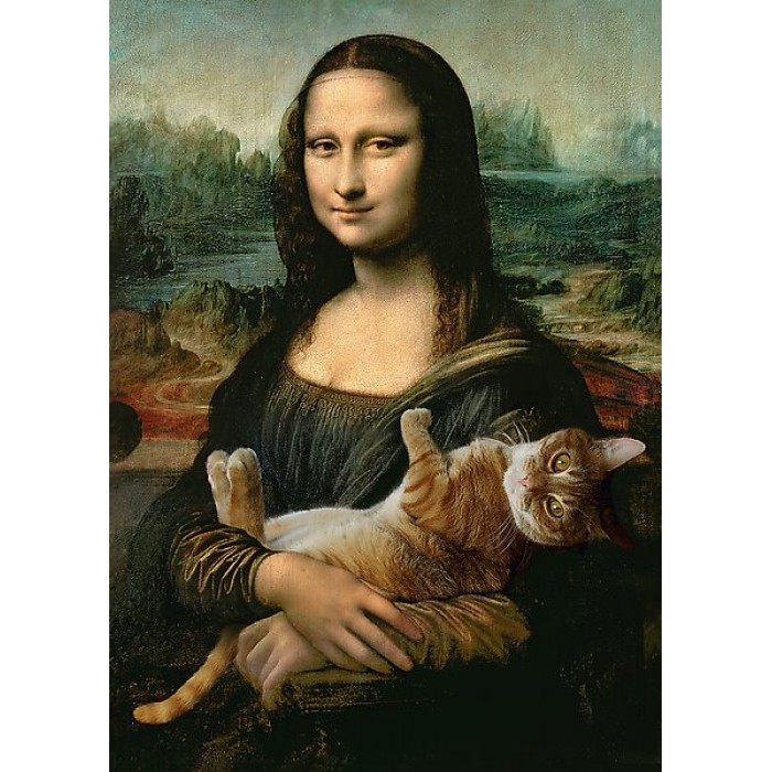 Mona Lisa and Purring Kitty