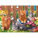 Puzzle  Trefl-37326 Petits Chatons dans le Jardin